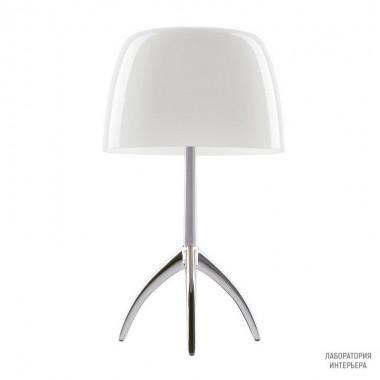 Foscarini026001R2 11 — Настольный светильник Lumiere 05 grande Alluminio/Bianco