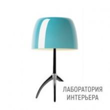 Foscarini0260112R2 32 — Настольный светильник Lumiere 05 piccola Cromo nero/Turchese