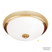 Orion DL 7-087 47 MS-matt opal-matt — Потолочный накладной светильник Nostalgie ceiling light, 47cm, satin brass finish, matt opal glass