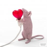 Seletti14884SV — Настольный светильник Mouse Lamp  Love Edition